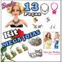 Lote Kit C/ 13 Joias P/ Boneca Barbie * Brinco Colar Coroa
