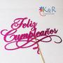 Topper Para Torta Cumpleaños 15años Fiesta Baby Shower Boda