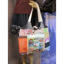 Bolsa Patchwork Artesanal Ecobag Totebag Upcycled Hippye