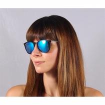 Óculos Feminin Erika Erica Veludo Espelhado Redond Vintage