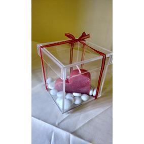 Caja Acrilico 10x10x10 Con Tapa Boda,cumple,eventos