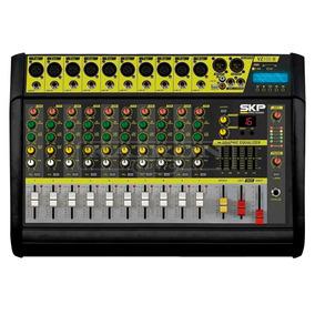 Consola Potenciada Mixer Skp Vz100 Ii 10 Canales Con Efectos