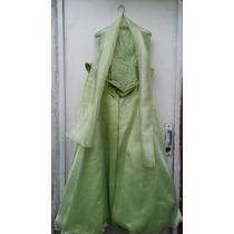 Vestido Para Xv Años Color Verde Limón 38