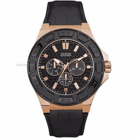 Reloj Guess W0674g6 Piel Negro Para Caballero 100% Original*