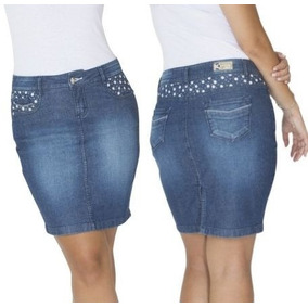 Saia Jeans Com Lycra De Alta Qualidade Promoção Para Você!!