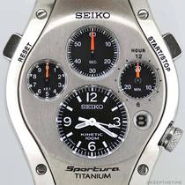 Reloj Seiko Slq009 Cronógrafo Titanio 100m Nuevo