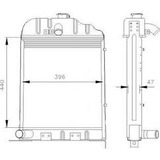 Radiador Novo Trator Massey Ferguson 50x 65x