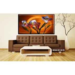 Cuadros Modernos Decorativos Florales 90x60 Cms Envio Gratis