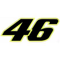 Adesivo 46 Valentino Rossi Medio Resinado Alto Relevo