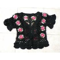 Remera Chaleco Hilo Lana Tejido Crochet Nuevo Fortu13