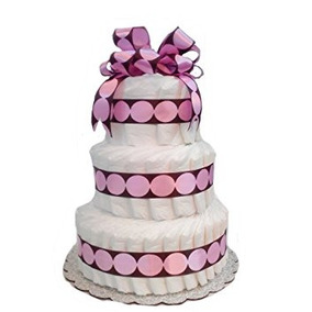 Nuevo Pañal Del Bebé De La Torta - En Colores Pastel Y Brow