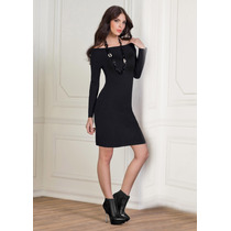 · Elegante Vestido Con Hombros Descubiertos Andrea 1241174