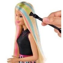 Boneca Barbie Conjunto Salão De Cores Mattel