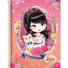 Caderno Jolie 10 Matérias 200 Fls