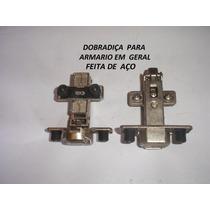 Dobradiça De Aço P/ Armarios / Guarda Roupa 30 Pçs