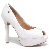 Sapato Vizzano Peep Toe Glitter   Zariff