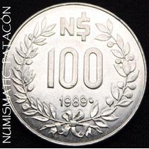 Moneda De Uruguay 100 Nuevos Pesos 1989 Gaucho - Excelente