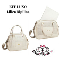 Kit Bolsa Maternidade Luxo Lilica Ripilica Cor Rosa Ou Creme