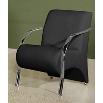 Cadeira Decorativa Braço Em Alumínio, Cromado Ou Madeira.