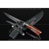 Cuchillo Columbia De Acero Inoxidable 440c Y Madera! 30cm !!