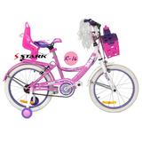 Bicicleta Rodado 16 Nena Stark Flower Canasto Envio Gratis!