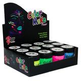 Tinta Líquida Facial Fluorescente C/ 12 Unidades Color Make