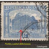 Argentina 312 Gj 624 Variedad Catalogada Rivadavia Año 1926