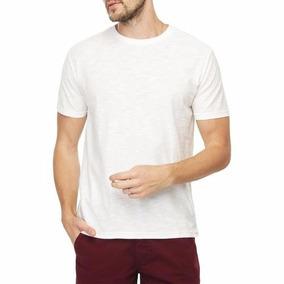 Camiseta Básica Branca Masculina Manga Curta Malwee