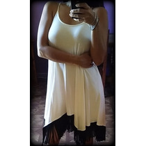 Vestido Fiesta Flecos/civil/15/negro/blanco/sexy