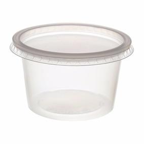 Pote De Plástico Descartável Com Tampa 250ml C/25un