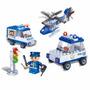 Brinquedo Blocos Montar Veiculos De Policia 113 Peças Banbao