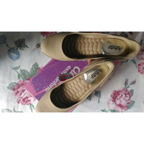 Sapato Anabela Dakota Bege Natural Confort