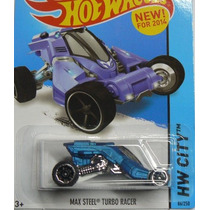 Hot Wheels Hw Ciudad - 86/250 - Max Steel Turbo Racer - Azu