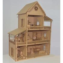 Casa Casinha De Boneca Polly Em Mdf Sem Os Móveis