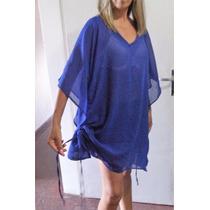 Gran Oportunidad!!! Muy Elegante Blusa Azul Transparente