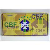 Dante42 Placa Auto Cbf Confederación Brasileña Futbol Brasil