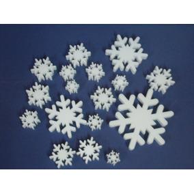 10 Copos De Nieve 5cm Polyfan 20mm ( No Telgopor) Frozen