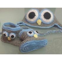 Conjunto Gorro Y Botitas Para Nenes Tejida A Crochet...