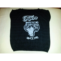 Remera De Lanilla Estilo Sweater Estampa Tigre