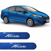 Friso Lateral Ford New Fiesta Sedan 2016 Azul Califórnia .