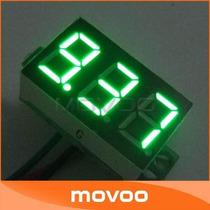 Mini Voltímetro Led Digital Medidor Bateria Verde Remote 30v