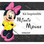 Kit Imprimible Minnie Mouse Invitaciones Tarjetas Frames Ec