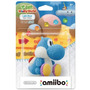 Amiibo Light Blue Yoshi De Lã Nintendo Wiiu 3ds Woolly World