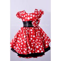 Vestido Minnie Vermelha 1 Ano