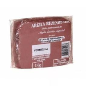 Argila Vermelha Escolar Artesanato 2kg