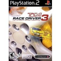 Jogo Patch Simulador Corrida Toca Race Driver 3 Play2 Ps 2