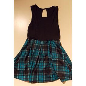 Vestido Escoces Pollera Rock Punk + Cinturon Calavera Etc