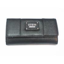 Billetera Guess Original Color Negra 18 X 11 Cm Cod 006