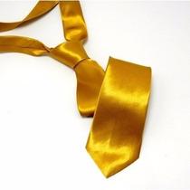 Gravata Dourada - Padrinhos - Casamentos - Preço De Atacado