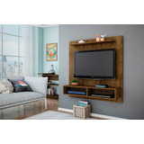 Painel Home Theater Para Tv Gama Cor Madeira Rustica